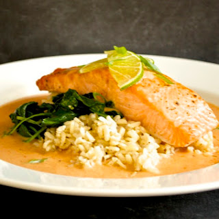 Red Curry Salmon.