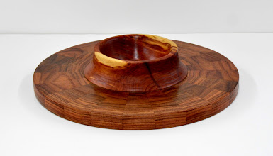 "Photo: Stan Sherman - Segmented Platter - 14"" x 4"" - Morado, Cedar"