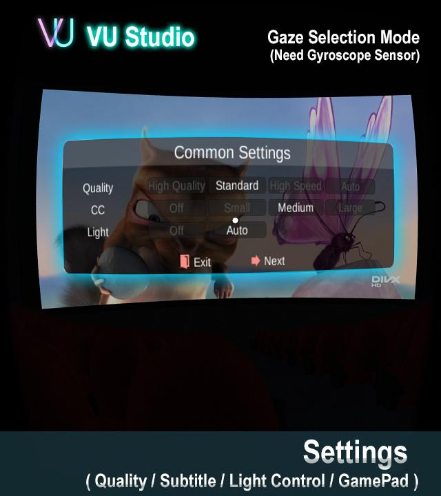 VU Cinema  VR 3D Video Player- screenshot