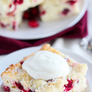 Easy Cranberry Vanilla Yogurt Cake.