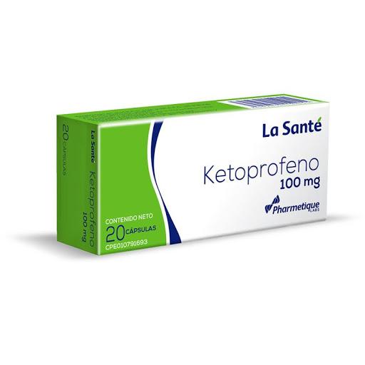 Ketoprofeno 100Mg 20 Capsulas La Sante La Santé
