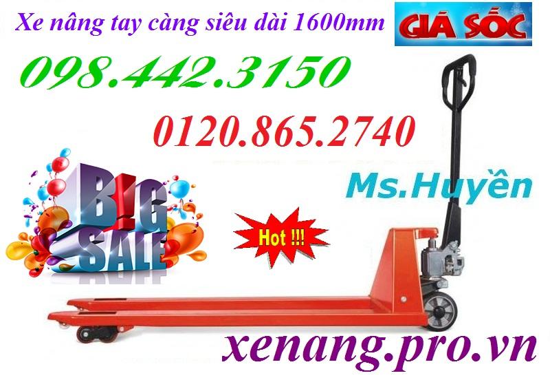 Xe nâng tay càng dài 1600mm
