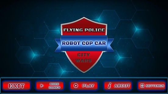 Flying Police Robot Cop Car : City Wars - náhled