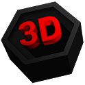 Next Launcher Theme Polygon 3D icon