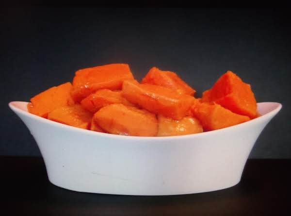 Maple Sweet Potatoes For One