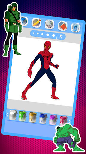 Super Hero Coloring Book Pages app (apk) free download for Android/PC/Windows screenshot