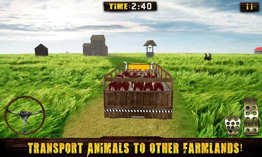 ファームトラック動物輸送