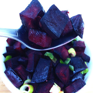 Roasted Beets With Green Onions.