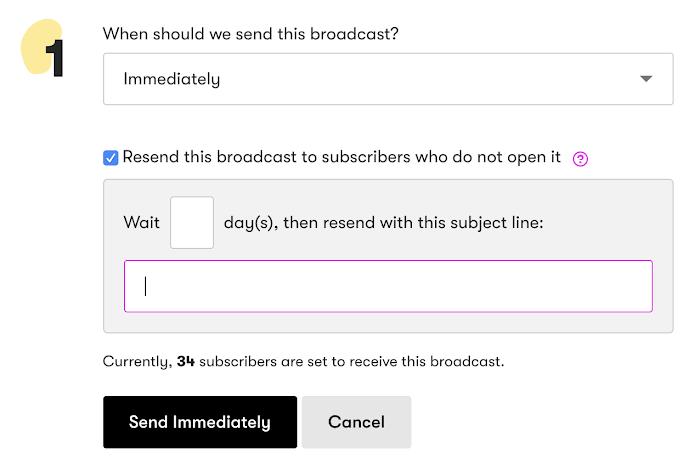 Broadcast scheduler