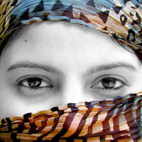 Lost in her Eyes by Shailendra Rana - People Body Parts ( girl, beautiful eyes, india, portrait, delhi )