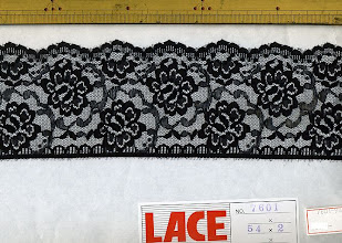 Photo: №7601-907ラッセル黒:巾75mm