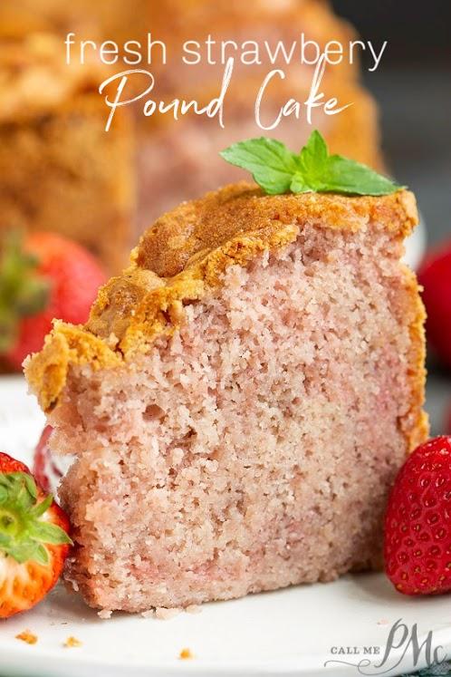 Fresh Strawberry Pound Cake