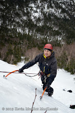 Photo: Anthony above the first ledge.