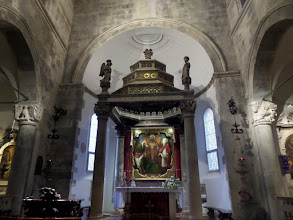 Photo: Inside the cathedral is a 16th century painting by Tintoretto.