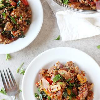 Cajun Quinoa with Sausage and Kale