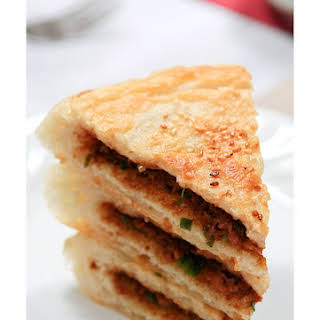 【Pan Fried Flat Bread with Meat Filling】.