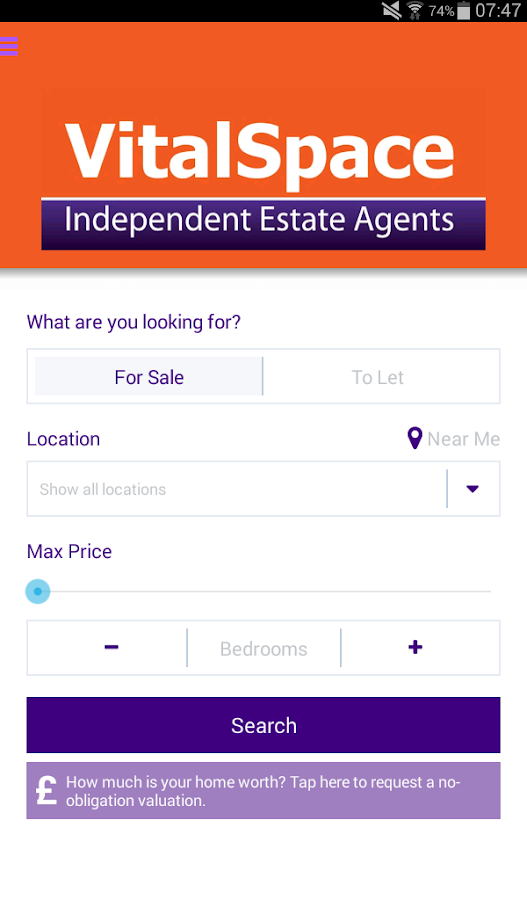 VitalSpace Property Search- screenshot