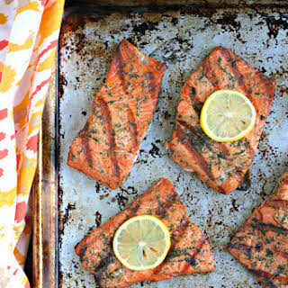 Old Bay Grilled Salmon.