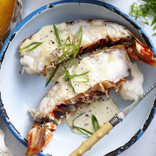 Lobster Tails with Orange Butter Sauce.