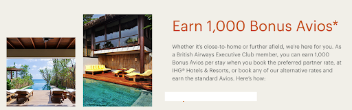 Earn 1,000 Bonus Avios for stays at IHG Hotels Worldwide