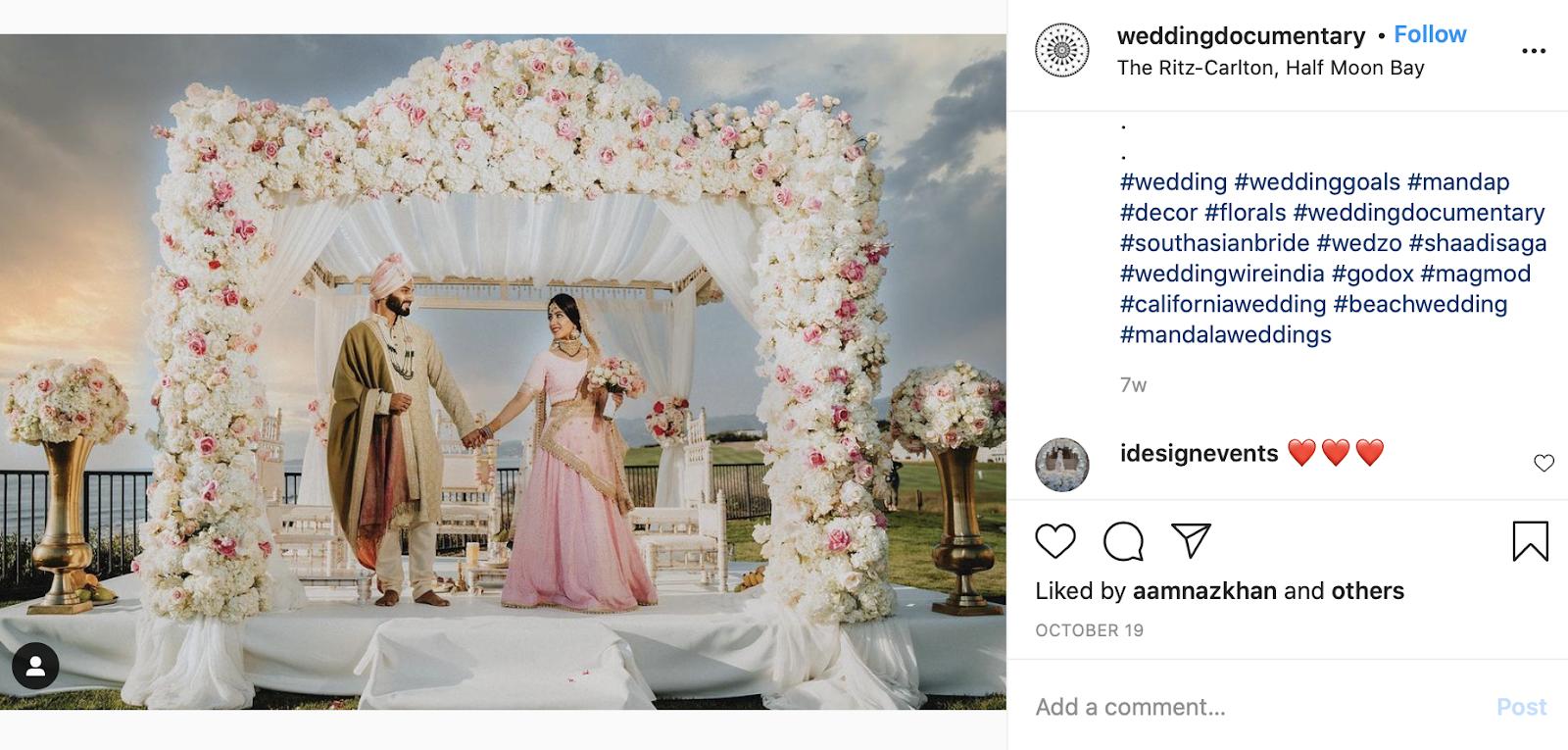 Mandap at Indian wedding ceremony