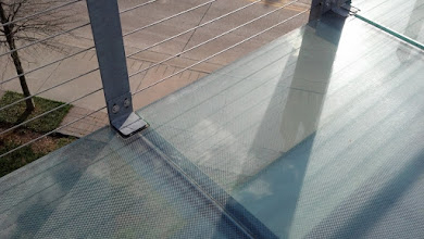 Photo: the glass bridge - yeah, you can see through it as you walk over the street