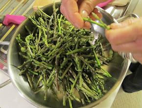 Photo: cooking wild asparagus