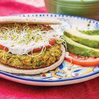 Edamame Burger With Cilantro Wasabi Aioli [Vegan]