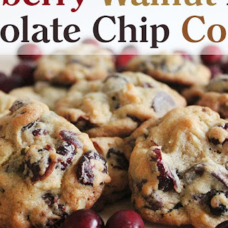 Cranberry Walnut Dark Chocolate Chip Cookies