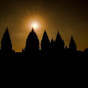 Candi Prambanan by Aditya Kusuma - Buildings & Architecture Places of Worship ( temple, candi, indonesia, siluet )