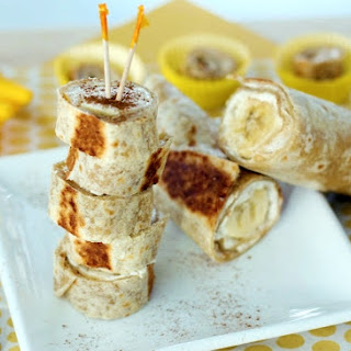 Warm Banana Roll-Ups.