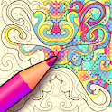 Colorju Symmetric Mandala Coloring Book icon