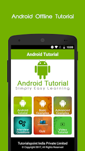 Learn Android Offline Tutorial- screenshot thumbnail
