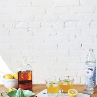 Sparkling Bourbon + Basil Lemonade