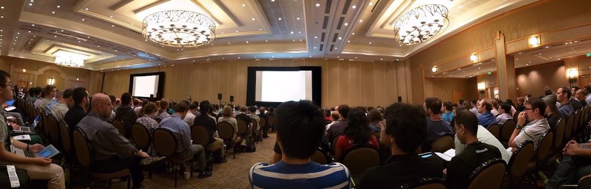 Packed ballroom for keynote