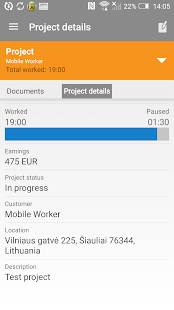 Mobile Worker - Time tracker- screenshot thumbnail