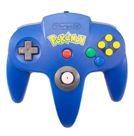 N64 Handkontroll Pokémon Edition Blå/gul beg