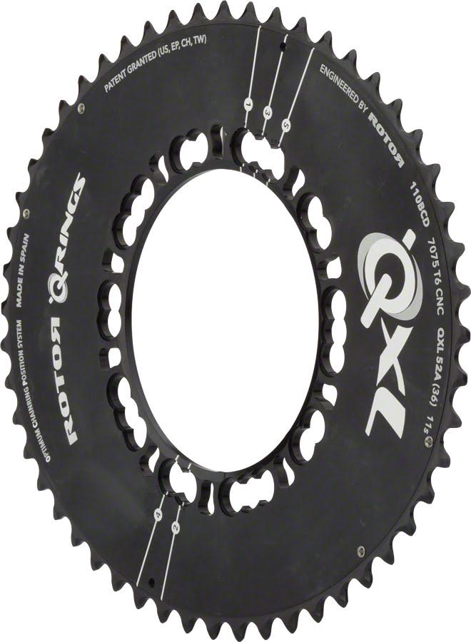 Rotor noQ 110x4 Asymmetric BCD Round Chainring 34t for use with 50t