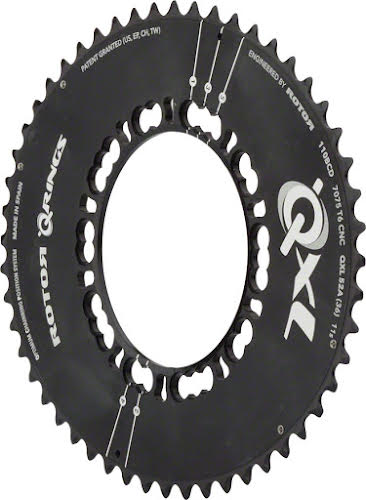 Rotor QXL 110 x 5 BCD Five Oval Position Chainring: 50t outer for use with 34t inner rings