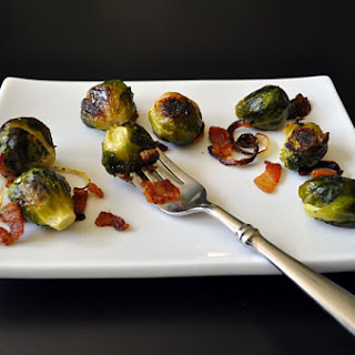 ROASTED BRUSSELS SPROUTS WITH BACON, KID FRIENDLY