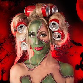 Zombie  by Gary Bradshaw - People Portraits of Women