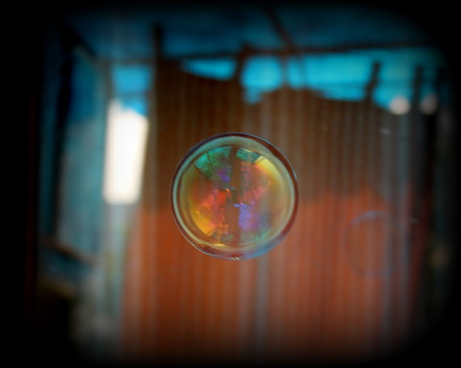 water bubble by PraNay Mallick - Abstract Water Drops & Splashes ( abstract, life in a bubble, bubbles, reflections, canvas of life )