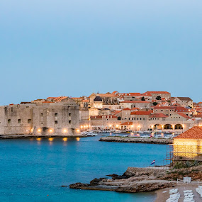Dubrovnik Old Town Harbor View by Ryan Inhof - City,  Street & Park  Historic Districts ( croatia, coast, dalmatia, ocean, harbor, old town, dubrovnik )