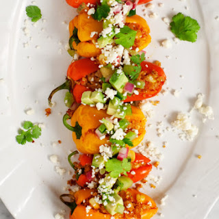 Stuffed Peppers W/ Green Tomato Salsa.
