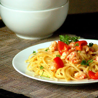 Linguine with Garlic Langoustine Sauce