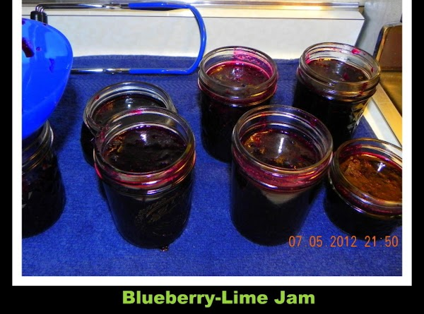 Ladle hot jam into your hot jars, leaving 1/4 inch headspace. Wipe of the...