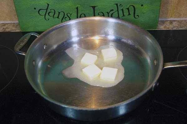 Melt the butter in a skillet over medium heat.