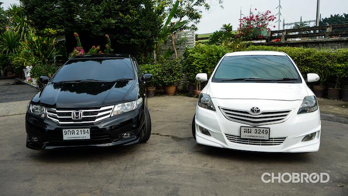 เทียบ Toyota Vios, Honda City มือสอง