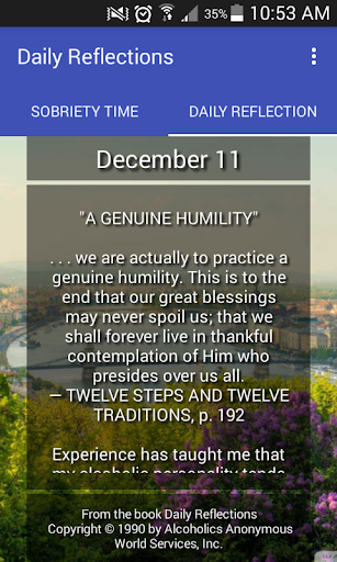 Screenshot for Daily Reflections: Pro in Hong Kong Play Store