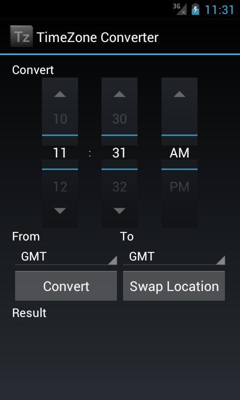 Скриншот TimeZone Converter